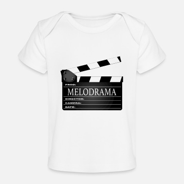 Clapperboard Melodrama Movie Clapperboard - Baby Organic T-Shirt