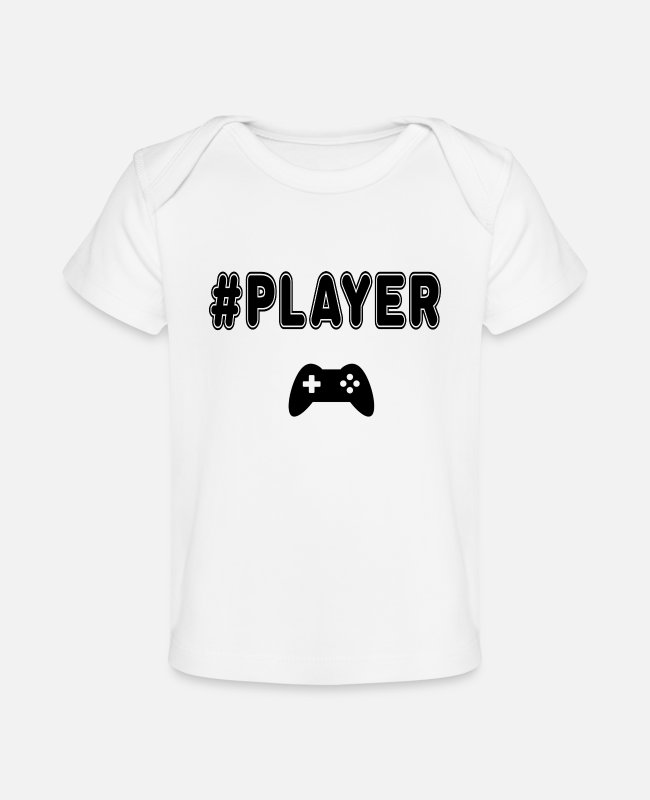 Competition Baby T-Shirts - player - Baby Organic T-Shirt white