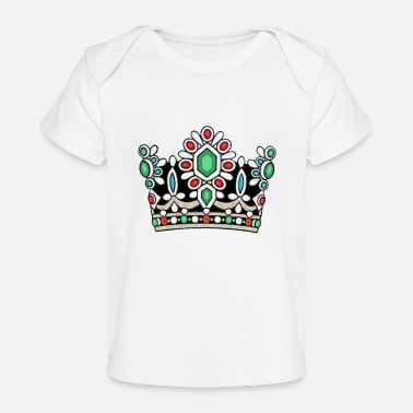 Persian History Crown Royal Majesty Queen Royalty Coronation King - Baby Organic T-Shirt