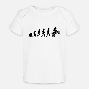 Cross Evolution Motocross Motorcycles Motorcyclist - Baby Organic T-Shirt