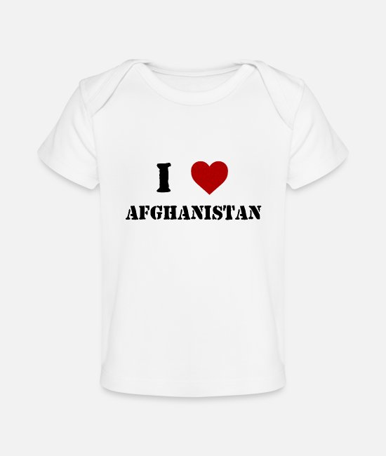 Afghanistan Baby T-Shirts - I Love Afghanistan - Baby Organic T-Shirt white
