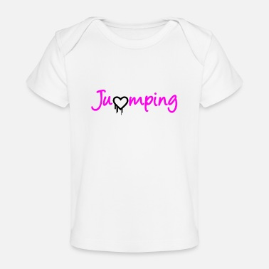 Jumpingfitness Jumping - great jumping design - Baby Organic T-Shirt