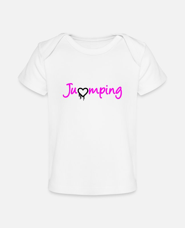 Jumpstyle Baby T-Shirts - Jumping - great jumping design - Baby Organic T-Shirt white