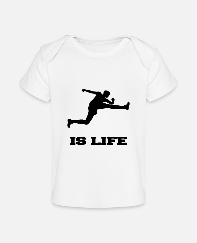 Sportmanship Baby T-Shirts - Jumping Is Live Broad Jump - Baby Organic T-Shirt white
