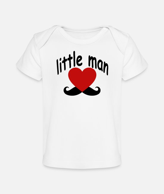Young Baby T-Shirts - its_a_little_man_boy_maternity - Baby Organic T-Shirt white