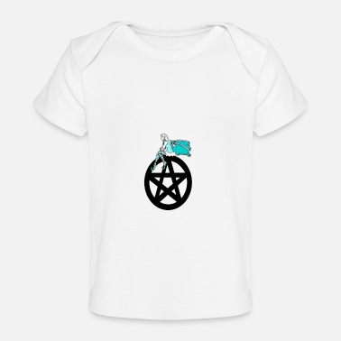 Pentacle Faerie on Pentacle - Baby Organic T-Shirt