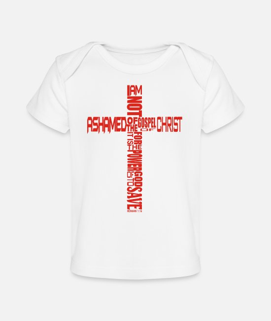 Saviour Baby T-Shirts - Gospe of Christ - Baby Organic T-Shirt white