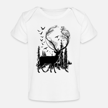 Nature Lovers Deer in Nature t-shirt for nature lovers! - Baby Organic T-Shirt