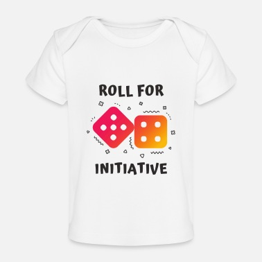 Initial ROLL FOR INITIATIVE - Baby Organic T-Shirt