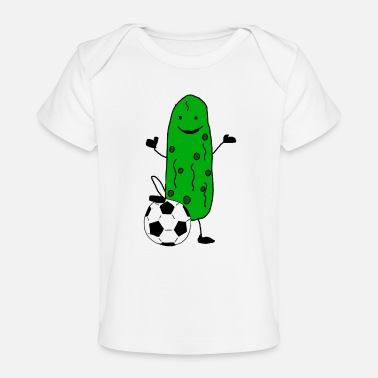 Satire Funny Pickle Playing Soccer Sports - Baby Organic T-Shirt