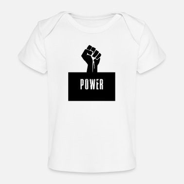 Black Power Raised Fist - Baby Organic T-Shirt