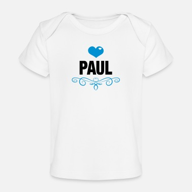 Bdsm Baby Girl Paul, Love, Hearts, Baby, Boys, Birthday, Gifts - Baby Organic T-Shirt
