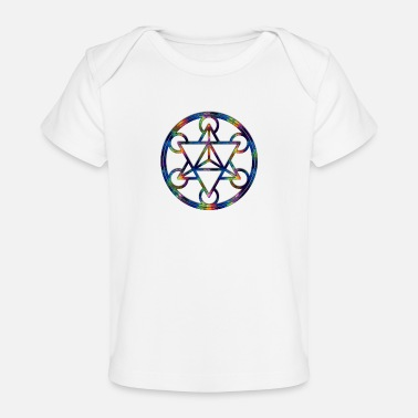 Tetrahedron Fractal Tetrahedron Psychedelic Sacred Geometry - Baby Organic T-Shirt