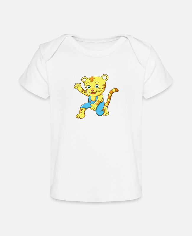 Party Baby T-Shirts - Funny Animal having Fun for Kids - Baby Organic T-Shirt white