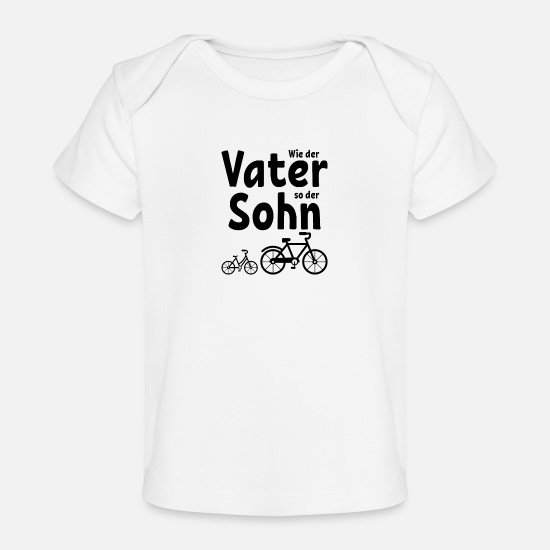 Mountains Baby Clothing - Like the father like the son bike bike gift - Baby Organic T-Shirt white