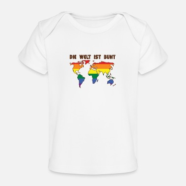 Transgender World is colorful LGBT saying gift Pride rights - Baby Organic T-Shirt