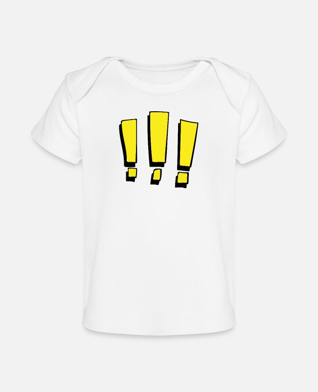 Punctuation Marks Baby T-Shirts - Exclamation marks 1 - Baby Organic T-Shirt white