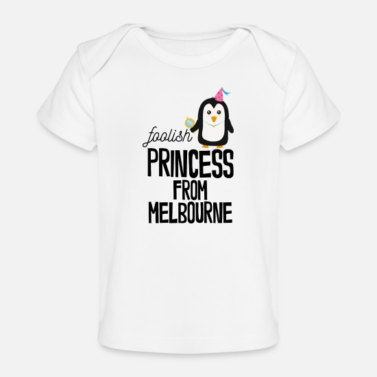 Melbourne Baby Clothing - foolish Princess from Melbourne - Baby Organic T-Shirt white