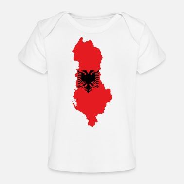 Flag Of Albania Flag map of Albania svg - Baby Organic T-Shirt