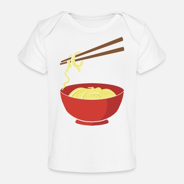 Food Noodles - funny - Chinese Food - Chopsticks- China - Baby Organic T-Shirt