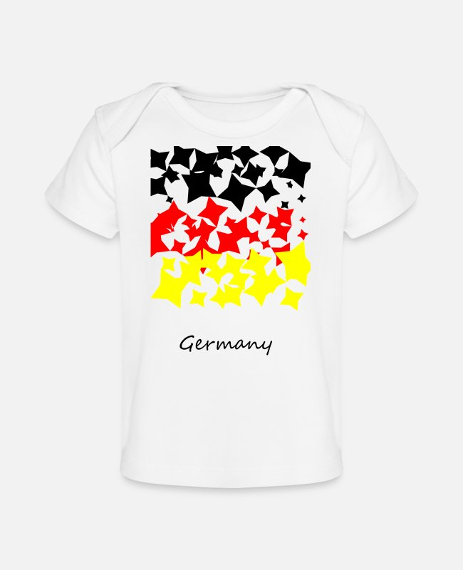 German Eagle Baby T-Shirts - Germany flag - Baby Organic T-Shirt white