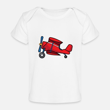 Pilot ✈ Biplane Design | Aircraft in Cartoon Style ✈ - Baby Organic T-Shirt
