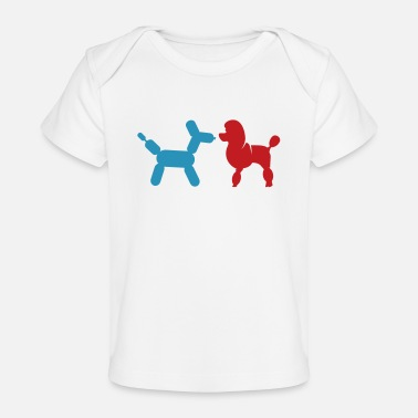 Poodle Poodle and Balloon Poodle - Baby Organic T-Shirt