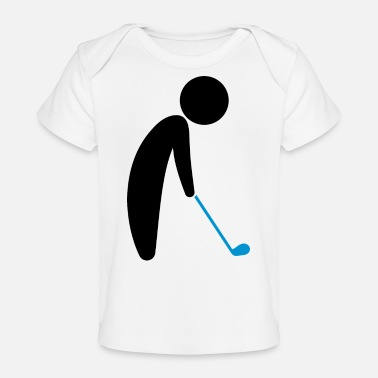 Teeing Off A Golfer About To Tee Off - Baby Organic T-Shirt
