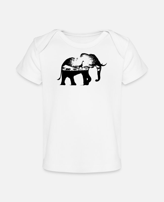 Movie Baby T-Shirts - wild africa - Baby Organic T-Shirt white