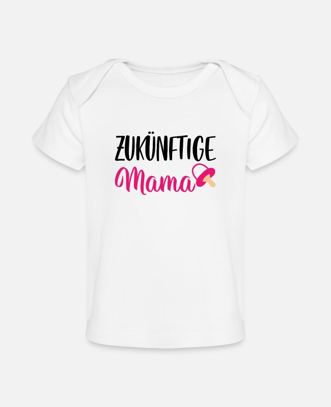 Pregnancy Baby T-Shirts - Expectant mom baby family gift - Baby Organic T-Shirt white