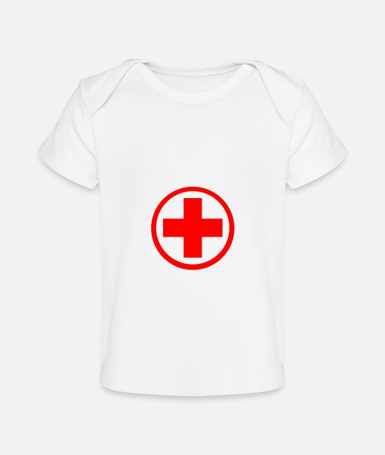 Red Baby T-Shirts - do not resuscitate for nurses, doctors and medical - Baby Organic T-Shirt white