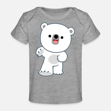 Cute Happy Polar Bear Cub by Cheerful Madness!! - Baby Organic T-Shirt