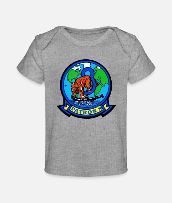 USN Baby T-Shirts - VP-8 Fighting Tigers - Baby Organic T-Shirt heather gray