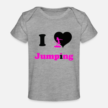 Jumpingfitness I love Jumping - great jumping design - Baby Organic T-Shirt