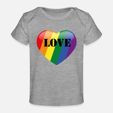 Love Is Love Pride Heart LOVE - Pride heart! - Baby Organic T-Shirt