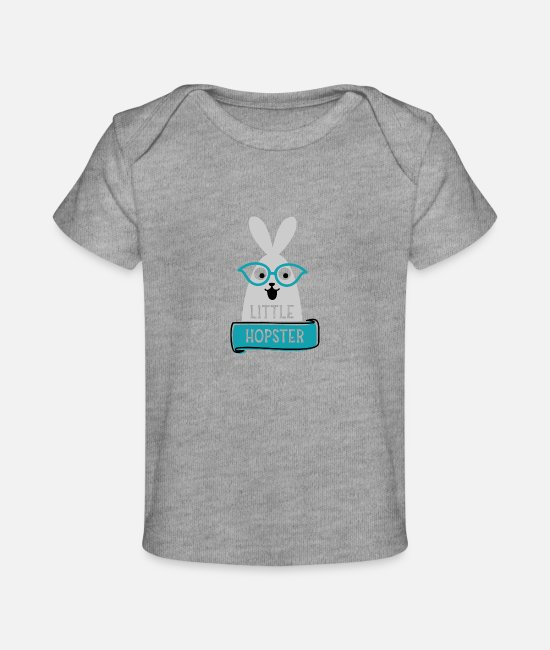 Pregnancy Baby T-Shirts - Little hopster - Baby Organic T-Shirt heather gray