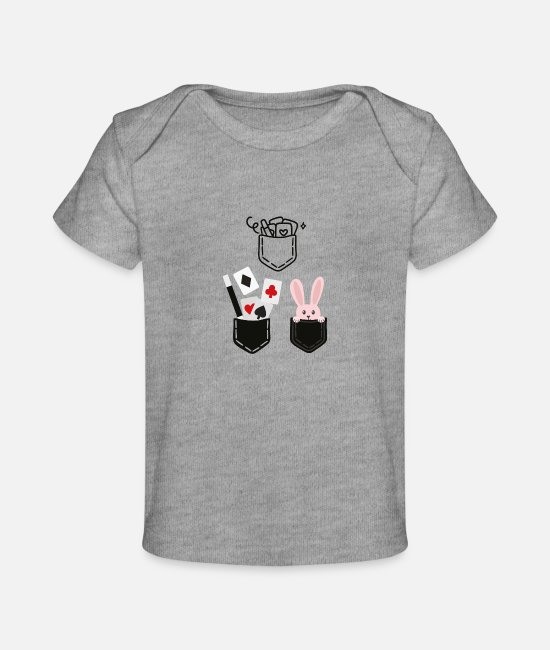 Pregnancy Baby T-Shirts - Magician elements - Baby Organic T-Shirt heather gray