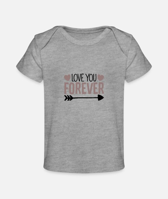 Pregnancy Baby T-Shirts - Love You forever - Baby Organic T-Shirt heather gray