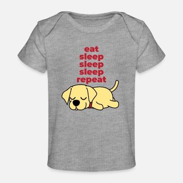 Sleeping eat sleep sleep sleep repeat - Baby Organic T-Shirt