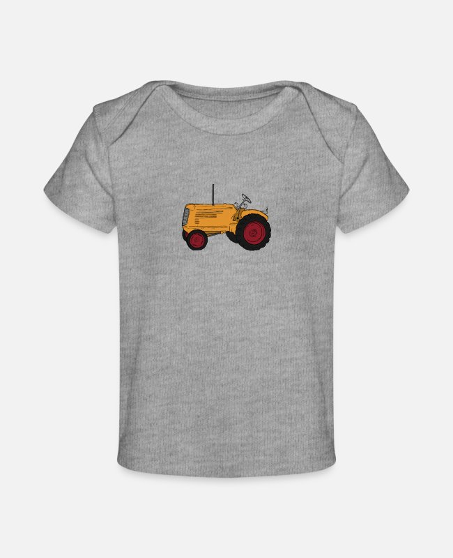 Children Christmas Present Baby T-Shirts - Christmas Present Kids Birthday Present Kids - Baby Organic T-Shirt heather gray