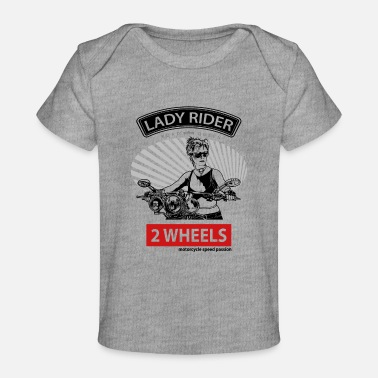 Bold Lady Rider Road Queen, T-shirt for Biker - Baby Organic T-Shirt