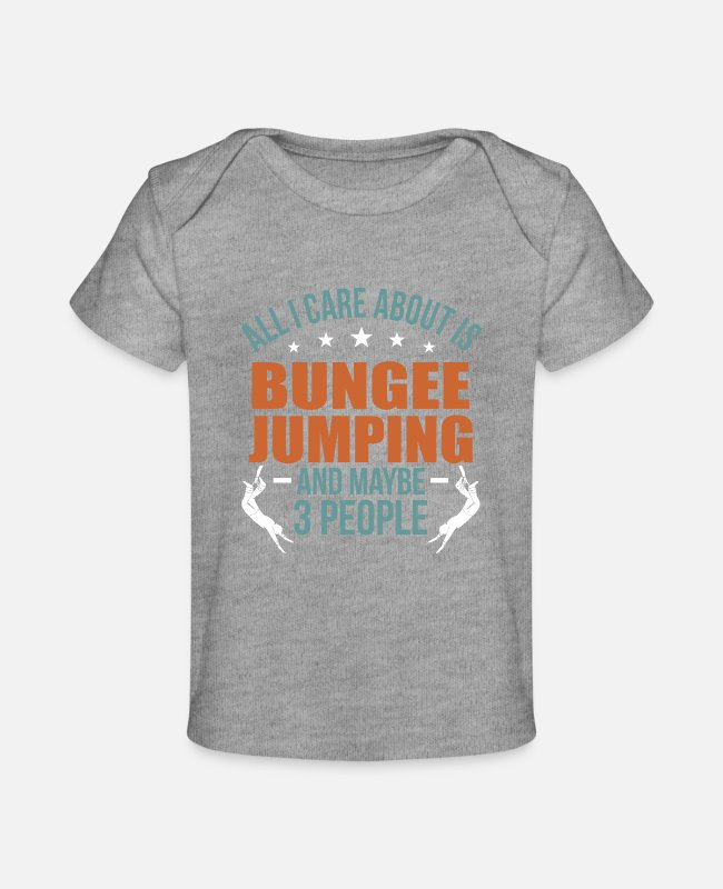 Jumper Baby T-Shirts - Bungee Jumping - Baby Organic T-Shirt heather gray