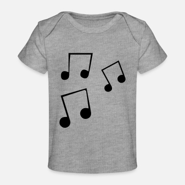 Musical Notes music notes - Baby Organic T-Shirt
