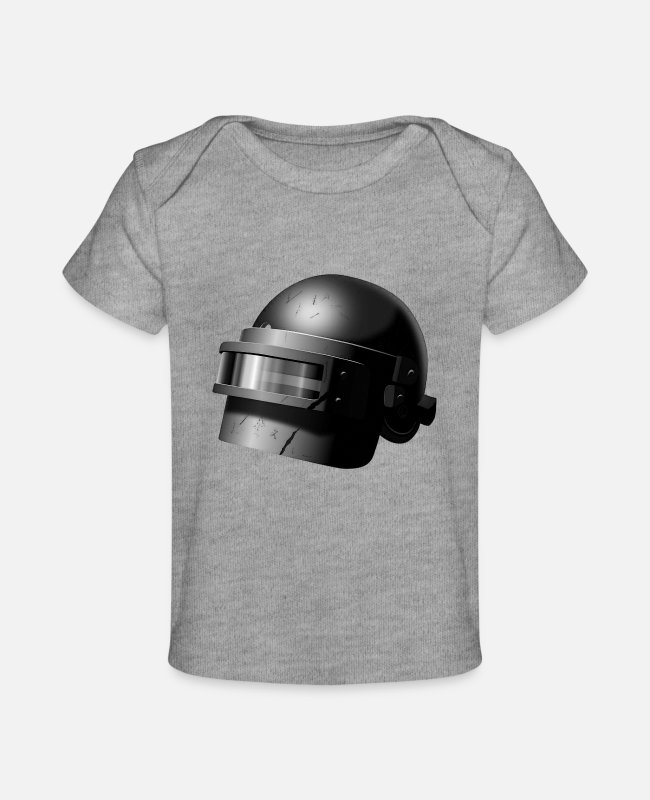 Superheroes Baby T-Shirts - LEVEL 3 HELMET - Baby Organic T-Shirt heather gray