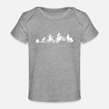 Evolution Motorcycle Shirt For Cyclists Evolution Baby - Baby Organic T-Shirt