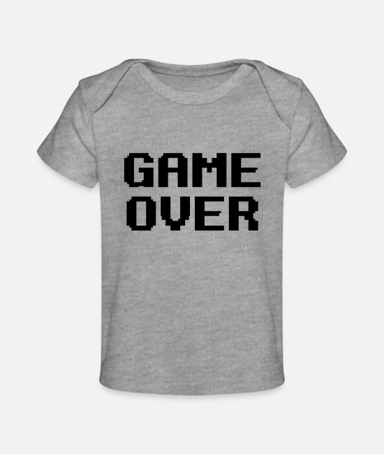 Lose Baby T-Shirts - Game Over - Baby Organic T-Shirt heather gray