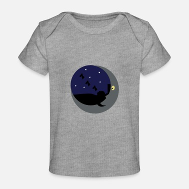 Shining Moon sleep in the moon shine - Baby Organic T-Shirt