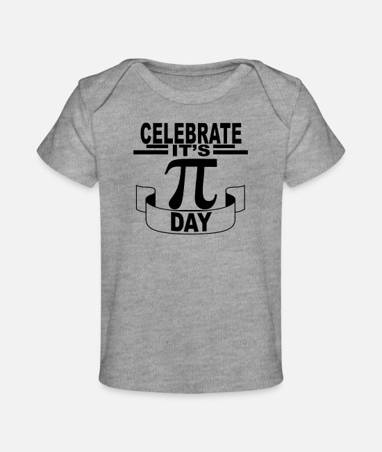 Happy Baby T-Shirts - happy_pi_day_tee_ - Baby Organic T-Shirt heather gray