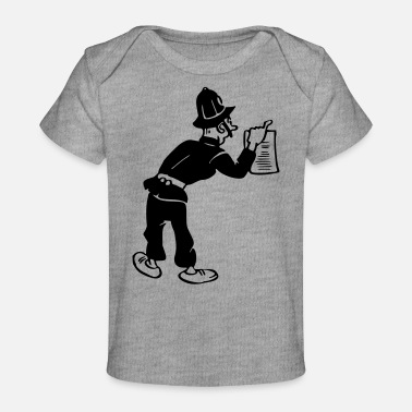 Arrest Warrant Policeman with warrant - Baby Organic T-Shirt
