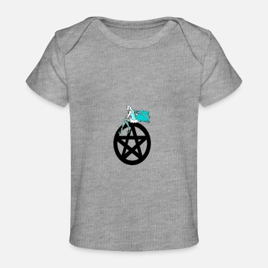 Pentacle Faerie on a Pentacle - Baby Organic T-Shirt